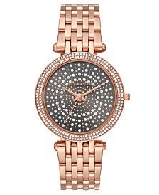 Michael Kors Women's Darci Rose Gold-Tone Stainless Steel Bracelet Watch 39mm