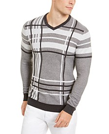 Men's Plaid Crewneck Sweater, Created for Macy's