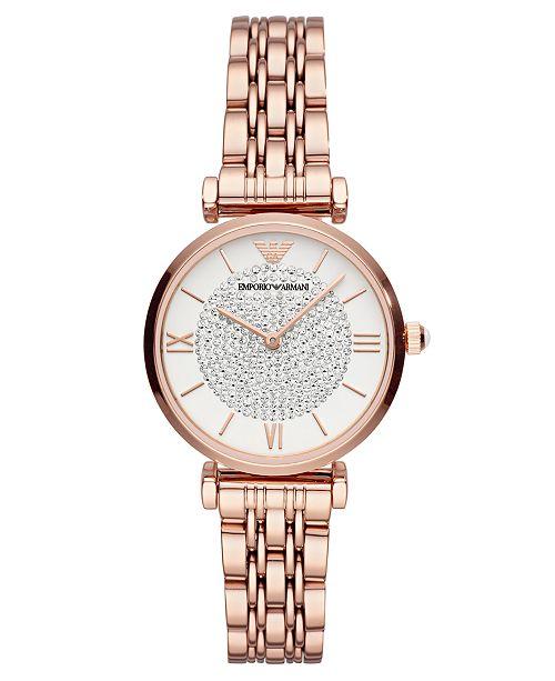 a694cc95d8 Women's Rose Gold-Tone Stainless Steel Bracelet Watch 32mm