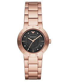 Women's Rose Gold-Tone Stainless Steel Bracelet Watch 32mm