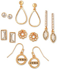 Gold-Tone 6-Pc. Set Crystal Earrings