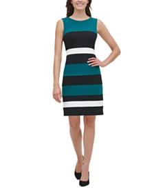 Tommy Hilfiger Colorblock Sheath Dress