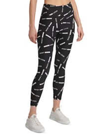 DKNY Sport Logo-Print High-Waist Leggings