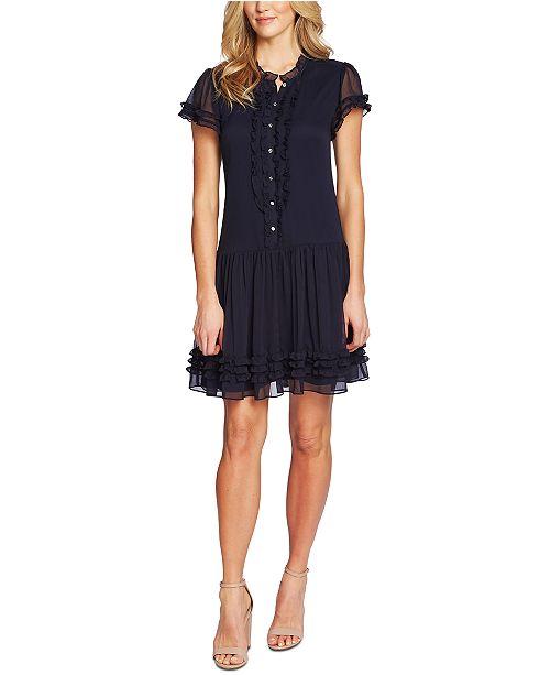 CeCe Ruffled Drop-Waist Dress