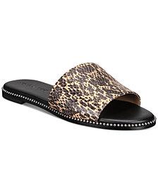COACH Women's Hayden Beadchain Flat Slide Sandals