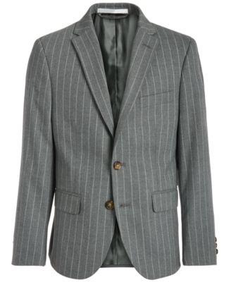 로렌 랄프로렌 보이즈 스트라이프 수트 자켓 Lauren Ralph Lauren Big Boys Classic-Fit Stretch Gray Stripe Suit Jacket