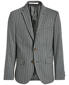 Big Boys Classic-Fit Stretch Gray Stripe Suit Jacket