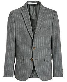 Lauren Ralph Lauren Big Boys Classic-Fit Stretch Gray Stripe Suit Jacket