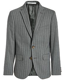 Lauren Ralph Lauren Big Boys Classic-Fit Stretch Gray Stripe Suit Jacket