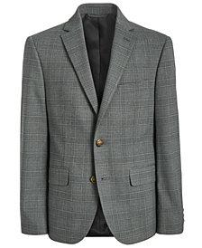 Lauren Ralph Lauren Big Boys Classic-Fit Stretch Light Gray Plaid Suit Jacket