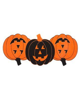 Farmhouse Living Jack-o-Lantern Pumpkin Centerpiece Table Runner