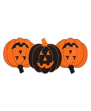 Elrene Farmhouse Living Jack-o-Lantern Pumpkin Centerpiece Table Runner