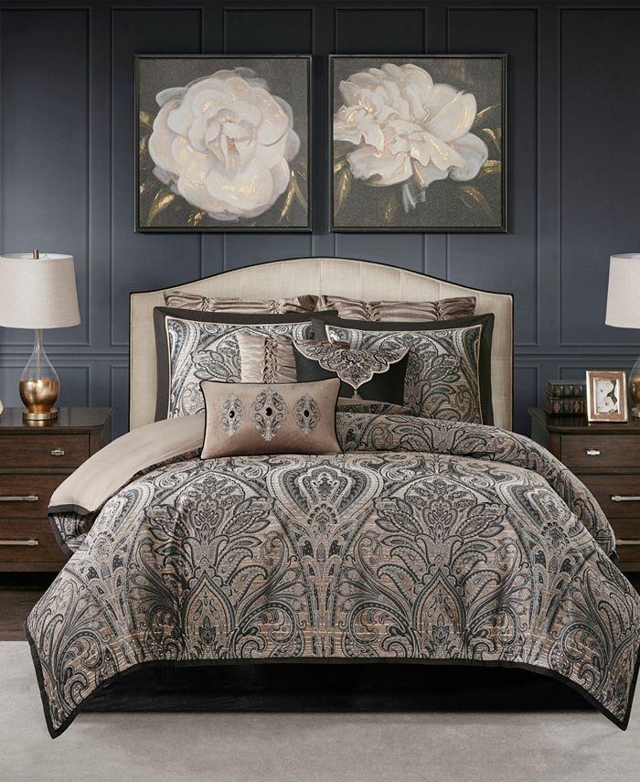 Madison Park Signature - Grandover Queen 8 Piece Jacquard Comforter Set