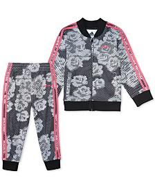 adidas Toddler Girls 2-Pc. Printed Tricot Jacket & Pants Set