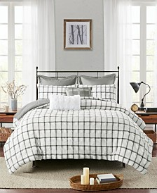 Madison Park Kinney Full/Queen 7-Pc. Yarn Dye Polyester Seersucker Comforter Set