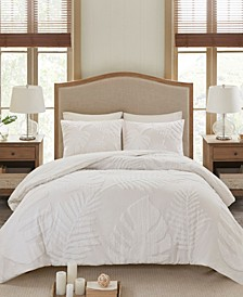 Bahari Full/Queen 3-Pc. Tufted Cotton Chenille Palm Comforter Set