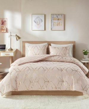 Intelligent Design Ainsley Twin/Twin Xl 2-Pc. Metallic Print Reversible Comforter Set Bedding