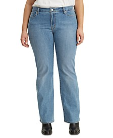 Trendy Plus Size  Classic Bootcut Jeans