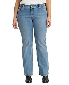 Trendy Plus Size  Classic Bootcut Jeans