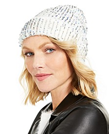 INC Sequin Shine Beanie, Created for Macy's