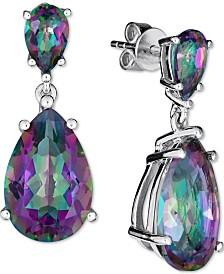 Mystic Quartz Teardrop Drop Earrings (9 ct. t.w.) in Sterling Silver