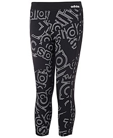 Big Girl Double Up Logo-Print Tights