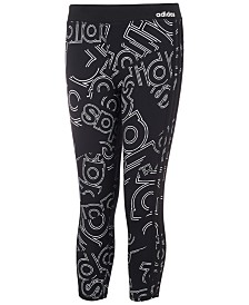 adidas Big Girl Double Up Logo-Print Tights