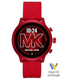 Access MKGO Red Silicone Strap Touchscreen Smart Watch 43mm, Powered by Wear OS by Google™