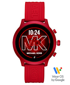 Michael Kors Access Gen 4 MKGO Red Silicone Strap Touchscreen Smart Watch 43mm, Powered by Wear OS by Google™
