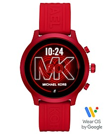 Michael Kors Access MKGO Red Silicone Strap Touchscreen Smart Watch 43mm, Powered by Wear OS by Google™