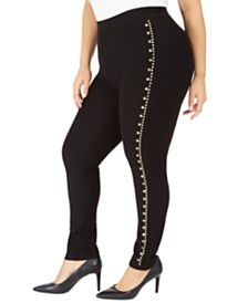 Michael Michael Kors Plus Size Studded Leggings