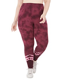 Plus Size Tie Dyed Leggings, Created for Macy's