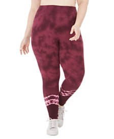 Ideology Plus Size Tie Dyed Leggings, Created for Macy's