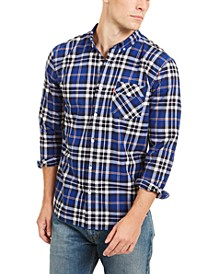 Men's Plaid Button-Down Shirt