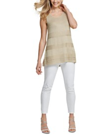 DKNY Metallic Sleeveless Sweater