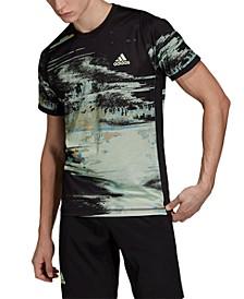 Men's NY Slim Fit Printed Tennis T-Shirt