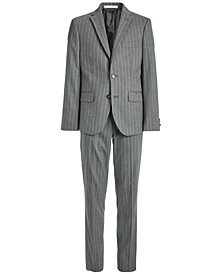 Big Boys Classic-Fit Stretch Gray Stripe Suit Separates