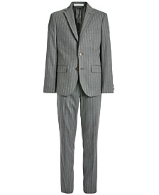 Lauren Ralph Lauren Big Boys Classic-Fit Stretch Gray Stripe Suit Separates