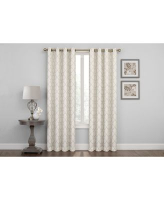 Embroidered Lattice Room Darkening Grommet Curtain, 95