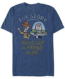 Disney Pixar Men's You've Got a Friend Short Sleeve T-Shirt
