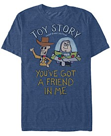 Disney Pixar Men's Toy Story You've Got a Friend Short Sleeve T-Shirt