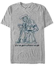Disney Pixar Men's Toy Story Woody and Buzz You Gotta Friend Sketch Short Sleeve T-Shirt