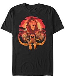 Disney Men's The Lion King Treacherous Road Ahead Short Sleeve T-Shirt