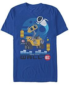 Disney Pixar Men's Wall-E Geometric Play Short Sleeve T-Shirt