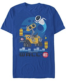 Disney Pixar Men's Wall-E Geometric Play Short Sleeve T-Shirt