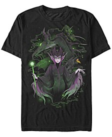 Disney Men's Sleeping Beauty Maleficent Manga Style Short Sleeve T-Shirt