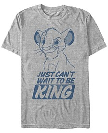 Disney Men's The Lion King Young Simba Can't Wait To Be King Short Sleeve T-Shirt