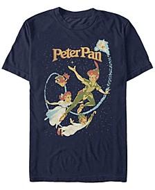 Disney Men's Peter Pan Darling Flight Vintage Short Sleeve T-Shirt