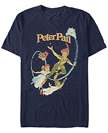 Disney Men's Peter Pan Darling Flight Vintage Short Sleeve T-Shirt