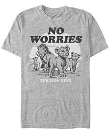 Disney Men's The Lion King No Worries Group Shot Short Sleeve T-Shirt